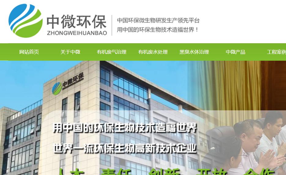 环境污染治理行业营销型网站设计