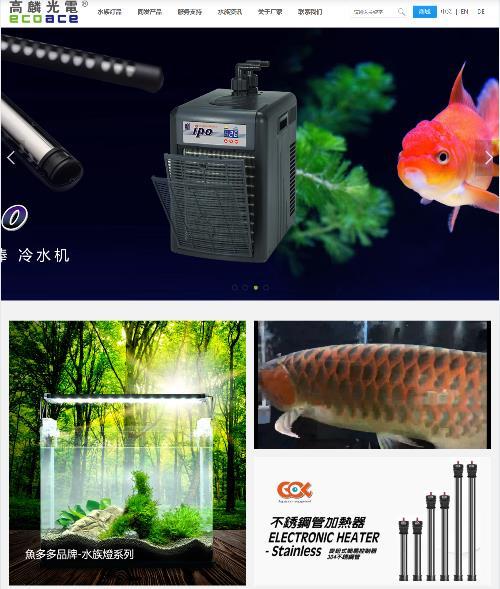 高麟光电公司网站改版成功
